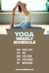 Yoga Weekly Schedule