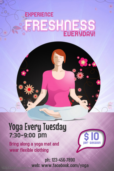 Yoga Workout Poster Template