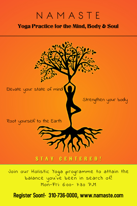 Yoga Workshop Class Academy Poster