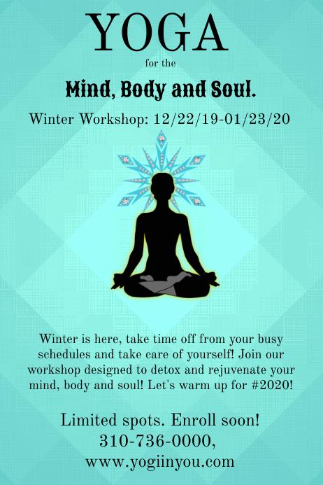 Yoga Workshop Poster Template Cartaz