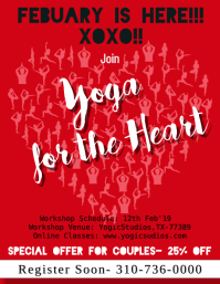 YOGA Workshop Valentine's Day Offer Flyer TEMPLATE