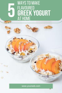yogurt food pinterest template design Pinterest-afbeelding