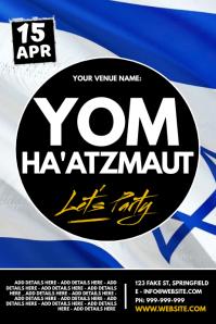 Yom Ha'atzmaut Poster Iphosta template