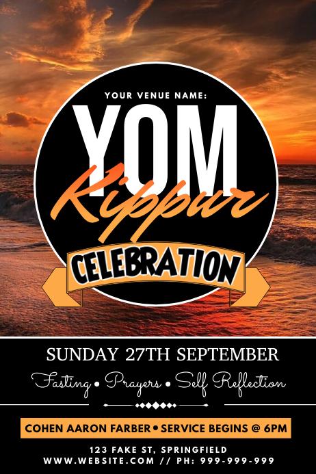 Yom Kippur Poster template