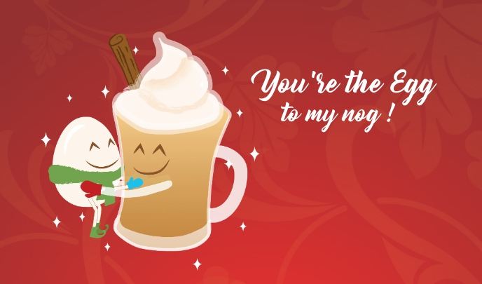 you're the egg to my nog tag 标记 template
