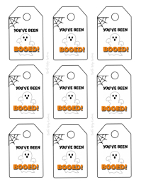You've Been Booed - TAG Flyer (US Letter) template