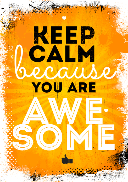 YOU ARE AWESOME POSTER A4 template