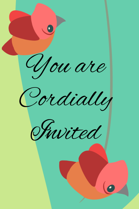 You Are Cordially Invited Template Postermywall