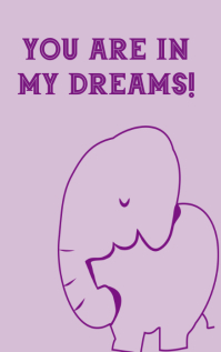 You are in my dreams