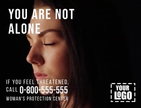 You are not alone domestic violence video Flyer (US Letter) template