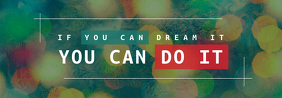 You can do it Tumblr Banner