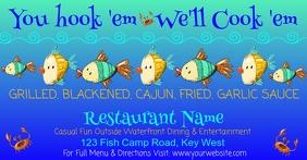 You hook'em We'll Cook 'em Facebook Ad template