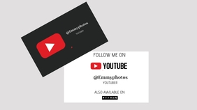 you tube cover design ภาพปก YouTube Channel template