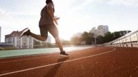 youn man running Foto de Portada de Canal de YouTube template