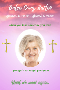 Cross Funeral Poster