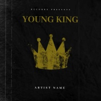 YOUNG KING mixtape cover design template Okładka albumu