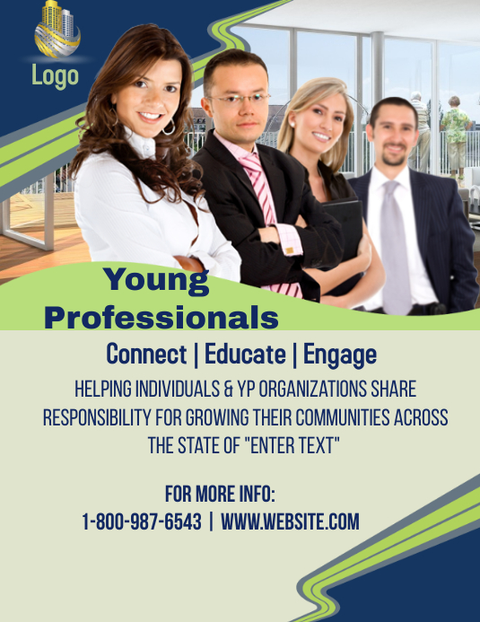 young professional flyer template postermywall