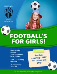 Young Women's Soccer Football Flyer template