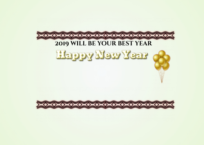 your best year new year postcard customize template