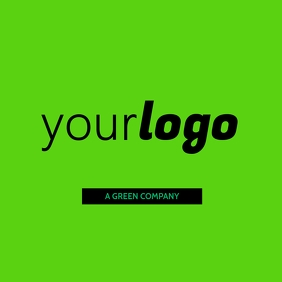 Your Logo Green Brand Modern Layout