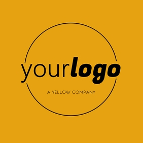 Your Logo Mothern Yellow Brand with Circle Wpis na Instagrama template