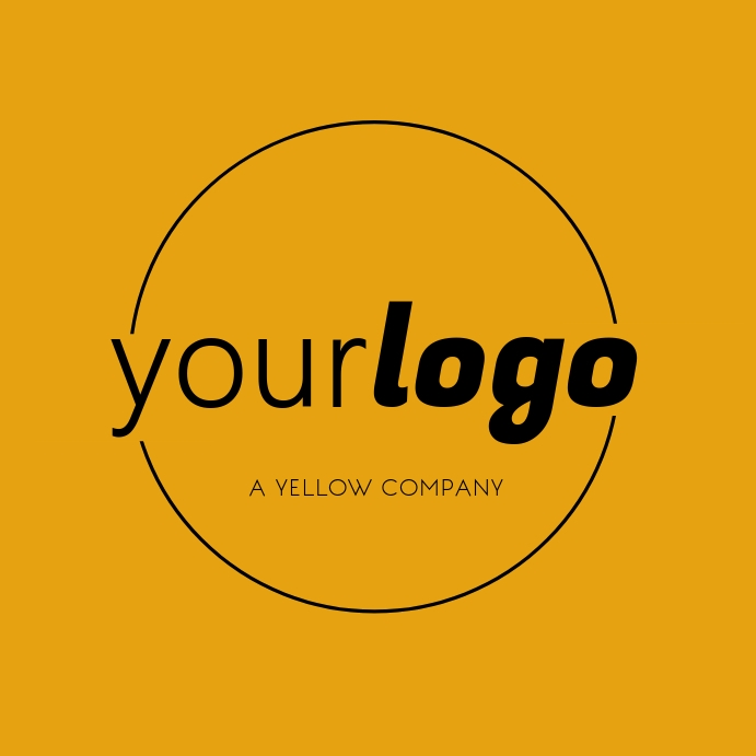 Your Logo Mothern Yellow Brand with Circle