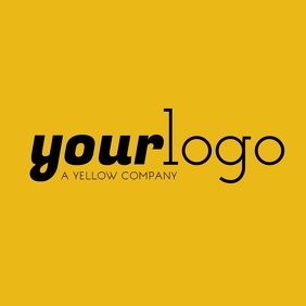 Your Logo Yellow Brand Logo Instagram Post template