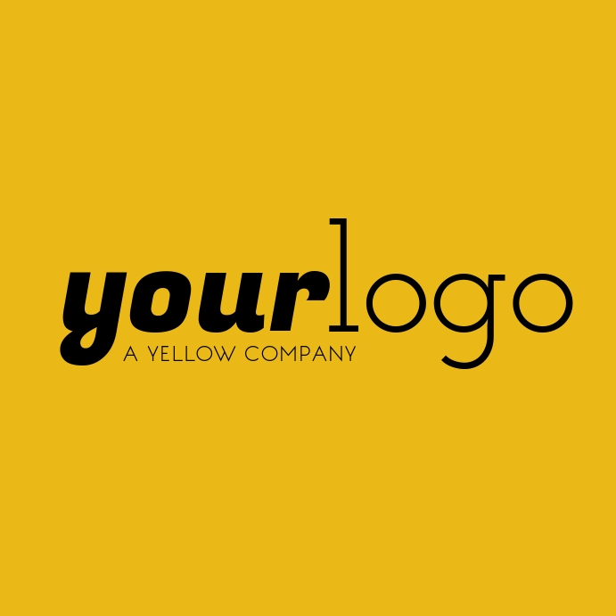 Your Logo Yellow Brand Logo Instagram Post Instagram-bericht template
