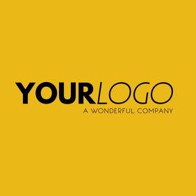 Your Logo Yellow Brand Logo Instagram Post Wpis na Instagrama template