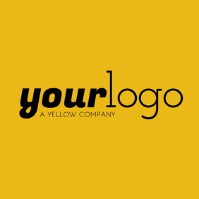 Your Logo Yellow Brand Logo Layout