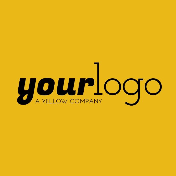 Your Logo Yellow Brand Logo Layout