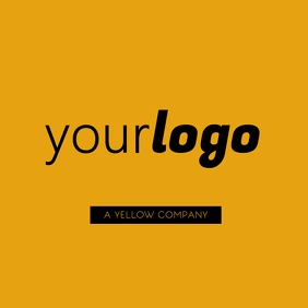 Your Logo Yellow Brand Modern Layout