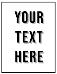 your text here black and white