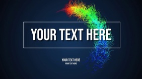 your text here Digitalt display (16:9) template