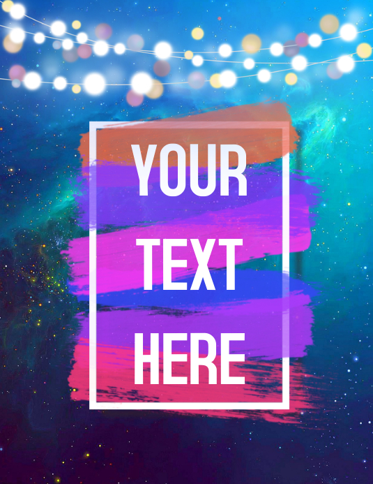 YOUR TEXT ON THE STARS