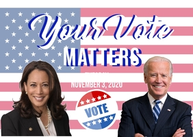 Biden Harris campaign Postcard template