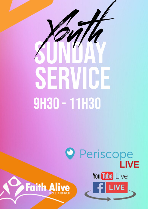 Youth Alive Service A6 template