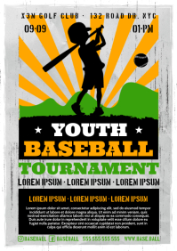 YOUTH BASEBALL POSTER A4 template