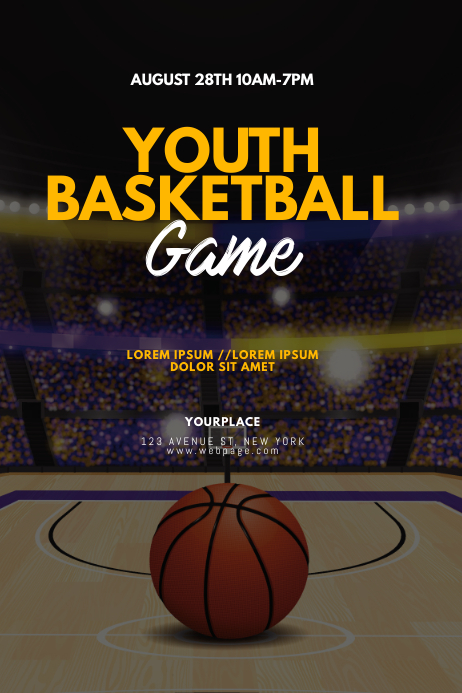 Youth Basketball Flyer Design Template