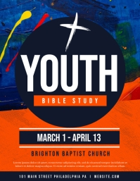 Youth Bible study Flyer (US Letter) template