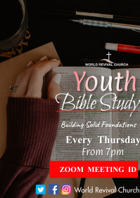Youth Bible Study A3 template