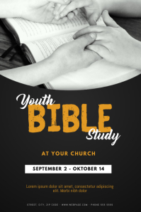 Youth Bible Study Flyer Template