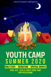 youth camp poster