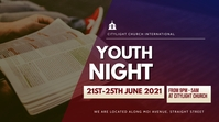 YOUTH church flyer Display digitale (16:9) template