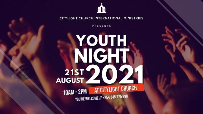 YOUTH church flyer Pantalla Digital (16:9) template