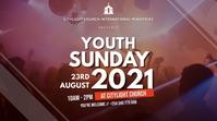 YOUTH church flyer Digitale Vertoning (16:9) template