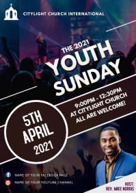 YOUTH church flyer A3 template