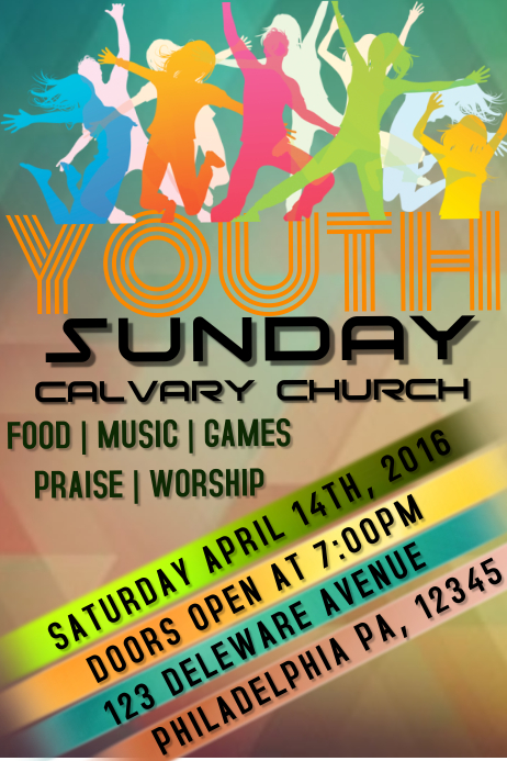 YOUTH CHURCH Poster template