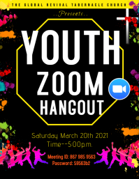 Youth Church Zoom Flyer template