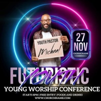 youth conference ad design template Logo